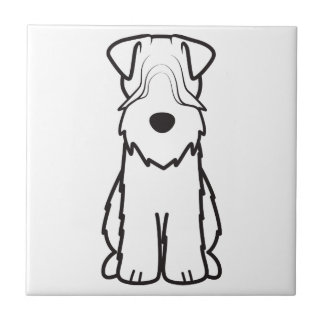 Soft Coated Wheaten Terrier Dog Cartoon Small Square Tile