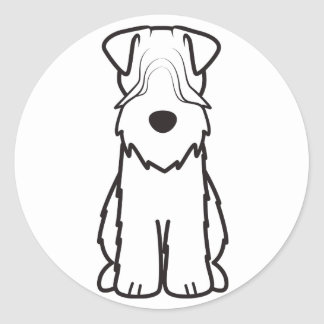 Soft Coated Wheaten Terrier Dog Cartoon Round Sticker