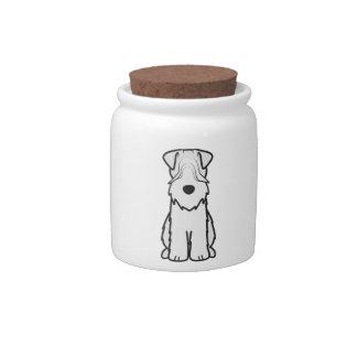 Soft Coated Wheaten Terrier Dog Cartoon Candy Jars