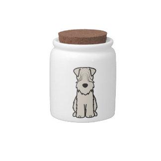 Soft Coated Wheaten Terrier Dog Cartoon Candy Jar
