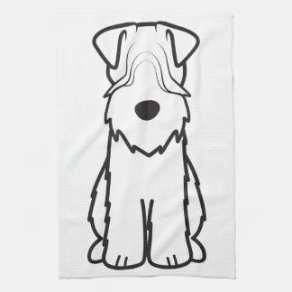 Soft Coated Wheaten Terrier Dog Cartoon Hand Towel