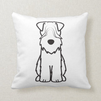 Soft Coated Wheaten Terrier Dog Cartoon Throw Pillow