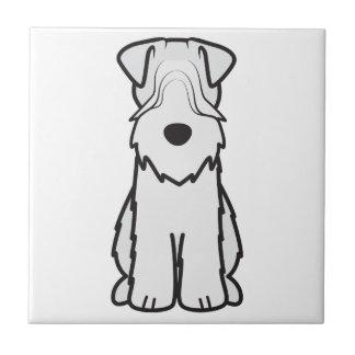 Soft Coated Wheaten Terrier Dog Cartoon Ceramic Tiles