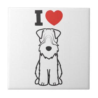 Soft Coated Wheaten Terrier Dog Cartoon Tile