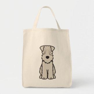 Soft Coated Wheaten Terrier Dog Cartoon Grocery Tote Bag