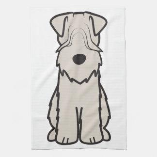 Soft Coated Wheaten Terrier Dog Cartoon Towels