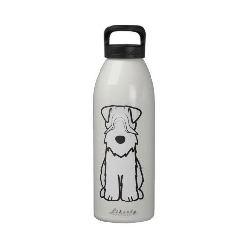 Soft Coated Wheaten Terrier Dog Cartoon Reusable Water Bottles