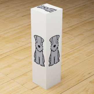 Soft Coated Wheaten Terrier Dog Cartoon Wine Gift Boxes