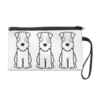 Soft Coated Wheaten Terrier Dog Cartoon Wristlet