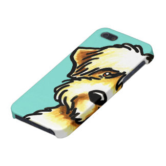 Soft Coated Wheaten Terrier Face Aqua iPhone 5 Cases