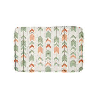 Soft Colors Tribal Arrows Pattern Bath Mats