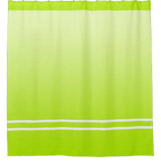 Soft Gradients Colors - spring green + your ideas Shower Curtain