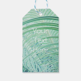 Soft Green Plant Palm Leaf Gift Tags