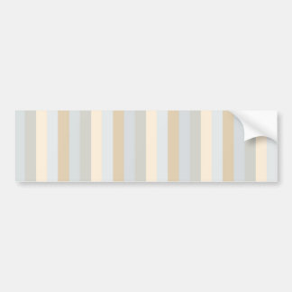 Soft Greys Vertical Stripes Decor Bumper Sticker