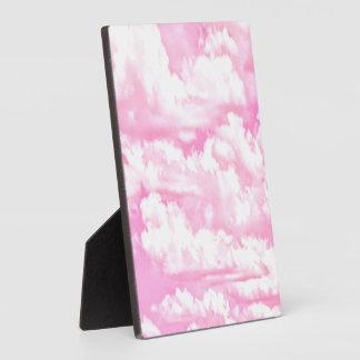 Soft Happy Rose Clouds Decor Plaque