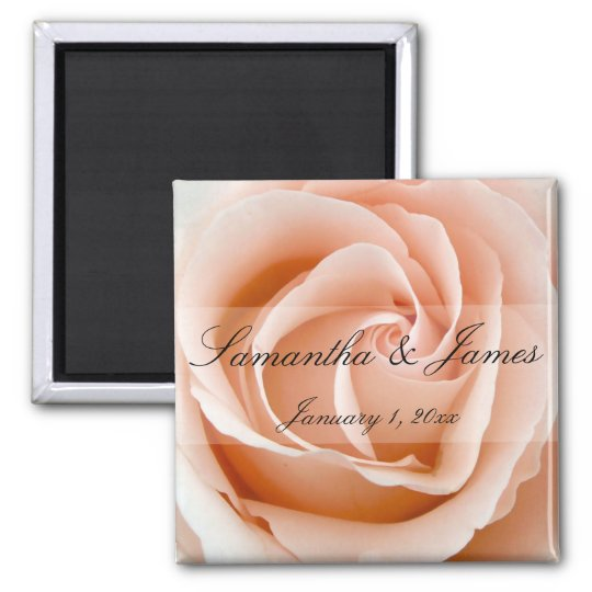Soft Orange Rose Personal Wedding Magnet