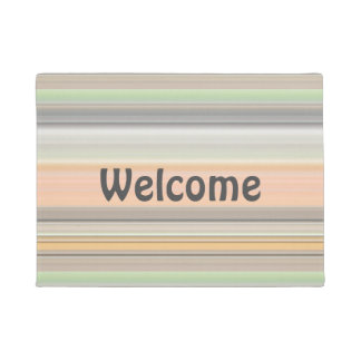 Soft Pastel Stripe Pattern Doormat