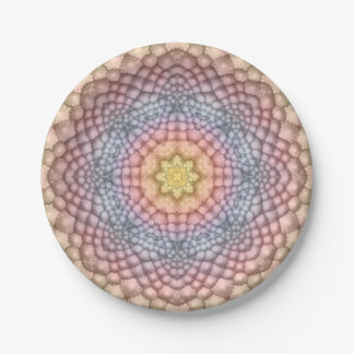 Soft Pastels Colorful Paper Plates 7 Inch Paper Plate