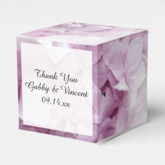 Soft Pink Hydrangea Floral Wedding Favor Box