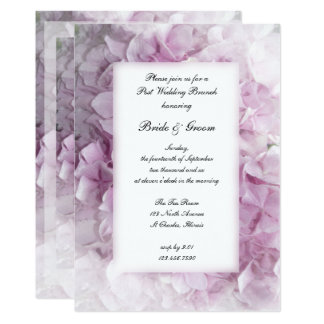 Soft Pink Hydrangea Post Wedding Brunch Invitation