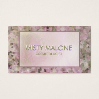 Soft Pink Pearl Lights Business Card