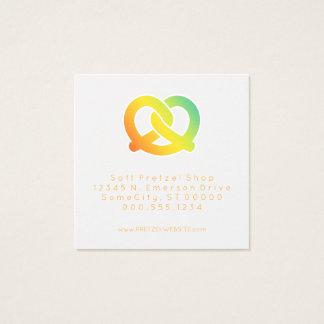 soft pretzels loyalty punch square business card