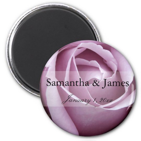 Soft Purple Rose Personal Wedding Magnet