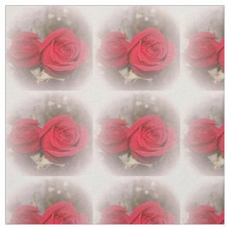 Soft Red Roses Fabric