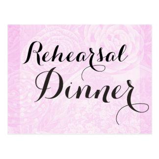 Soft rose pink rehearsal dinner invitation postcard