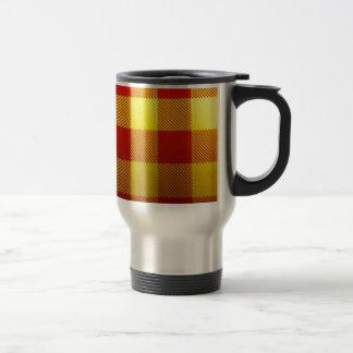 Soft Tartan Feel With Bright Colours Coffee Mugs