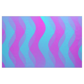 Soft Waves cyan pink + your ideas Fabric