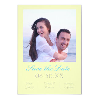 Soft Yellow Photo Vertical - Save the Date Card