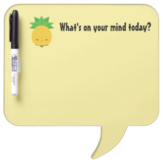Soft yellow pineapple dry erase board bubble