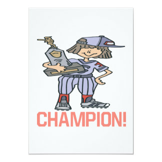 Softball Champion Card