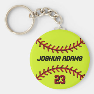 Softball Keychain for Sports Fans and Athletes