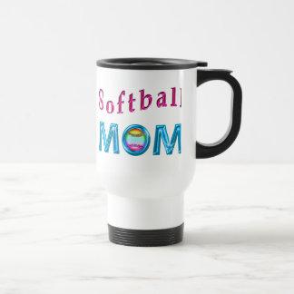 Softball MOM Gifts Pretty and Cool Softball Mugs