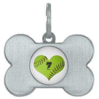 Softball pet charm pet ID tag