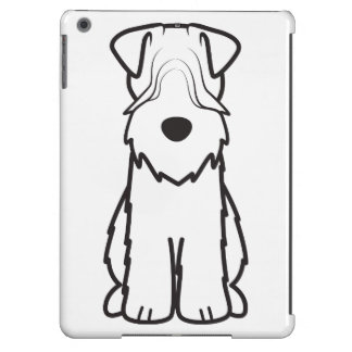 Softcoated Wheaten Terrier Dog Cartoon iPad Air Covers