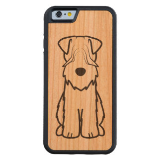 Softcoated Wheaten Terrier Dog Cartoon Cherry iPhone 6 Bumper Case