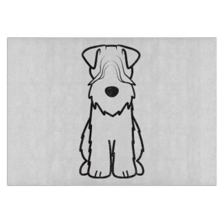 Softcoated Wheaten Terrier Dog Cartoon Cutting Boards