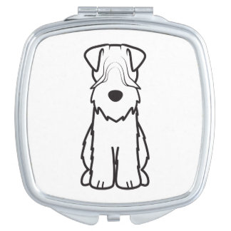 Softcoated Wheaten Terrier Dog Cartoon Compact Mirror