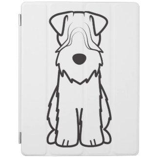 Softcoated Wheaten Terrier Dog Cartoon iPad Cover