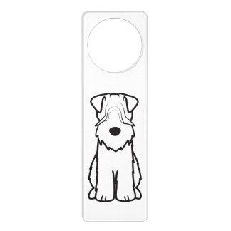 Softcoated Wheaten Terrier Dog Cartoon Door Hanger