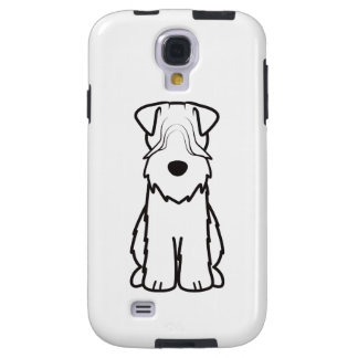 Softcoated Wheaten Terrier Dog Cartoon Galaxy S4 Case