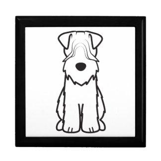 Softcoated Wheaten Terrier Dog Cartoon Gift Box
