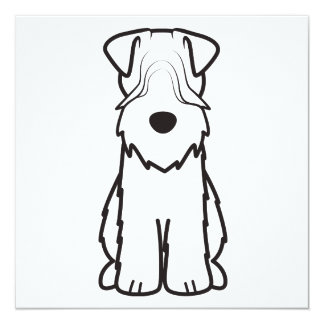 Softcoated Wheaten Terrier Dog Cartoon Announcement