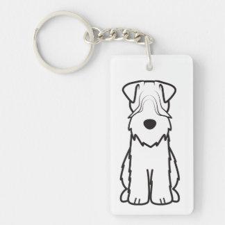Softcoated Wheaten Terrier Dog Cartoon Key Ring