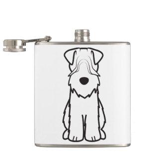 Softcoated Wheaten Terrier Dog Cartoon Flasks