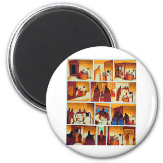 Soiree Zombie Le Flambeur 6 Cm Round Magnet