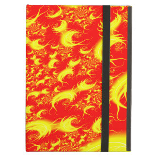 Solar Flares Red Yellow Spiral Fractal iPad Air Cover
